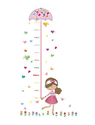 Wall Stickers Wall Decals Style Cartoon Girl Measure Your Height PVC Wall Stickers