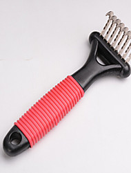 cheap -Cat Dog Grooming Cleaning Comb Brush Waterproof Portable Black