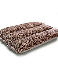Недорогие -Собака Кровати Животные Коврики и подушки Однотонный Леопард Мягкий Бежевый Цвет-леопард Для домашних животных