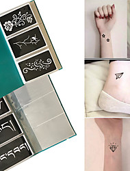 cheap -120x Henna Tattoo Stencils Airbrush Stencil Glitter Temporary Tattoo Body Mehndi