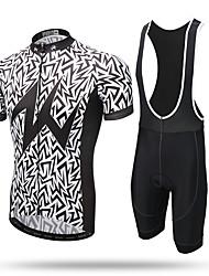 XINTOWN Maillot et Cuissard à Bretelles de Cyclisme Homme Manches Courtes Vélo Collant à Bretelles/Corsaire Bretelles Maillot Ensemble de