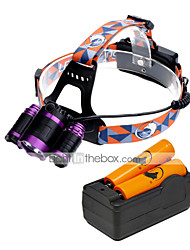 cheap -U'King Headlamps Headlight LED 3000 lm 4 3 Mode Cree XM-L T6 with Batteries and Charger Zoomable Adjustable Focus Easy Carrying