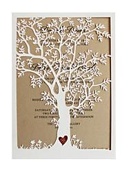 Недорогие -Боковой сгиб Свадебные приглашения Пригласительные билеты / Уведомления о предстоящем мероприятии Старинный Розовая бумага