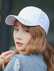 Women's Fashion Cotton Embroidery Flower Baseball Cap Sun Hat Casual Holiday Summer All Seasons