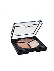 billige -3 farver Øjenskygger / Makeupværktøj / Pudder Daglig makeup / Femakeup Daglig Makeup Kosmetiske / Mat / Glans