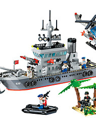 cheap -ENLIGHTEN 820 Building Blocks Model Building Kit 614 pcs DIY Warship Ship Boys' Gift Creative Chic & Modern Cartoon High Quality Special