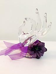 Bouquet sposa Tondo Braccialetto floreale Matrimonio Partito / sera Fiori secchi 17 cm ca.