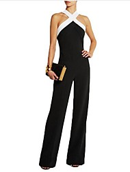 cheap -Women's Plus Size Jumpsuit - Solid, Cut Out Strap