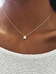 cheap -Women's Star Alloy Pendant Necklace - Alloy Unique Design Dangling Style Multi-ways Wear Star Necklace For Birthday Engagement Daily