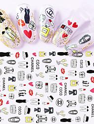 cheap -1pcs 3D Nail Stickers Lovely Cartoon QQ Penguin&Mr. Egg Yolk &Monster&Yellow Duck Nail Art Design Nail Art Sticker F061-069