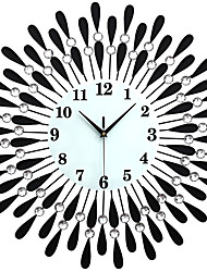 cheap -Large Diamond Luxury Living Room Wall Clock Iron European Modern Fashion Creative Personality Mute Watches Black