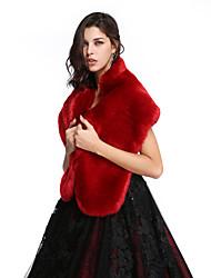 Women's Wrap Shawls Faux Fur Wedding Party/Evening