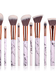 10pcs Makeup Brush Set Contour Brush Blush Brush Eyeshadow Brush Brow Brush Concealer Brush Powder Brush Foundation Brush Synthetic Hair