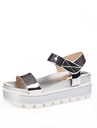 Flats Summer Creepers Comfort Patent Leather Wedding Outdoor Office & Career Dress Casual Party & Evening Wedge Heel Creepers Magic Tape