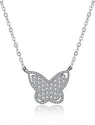 economico -Per donna Originale Pendente Animal Collane con ciondolo Argento sterling Zirconi Placcato in platino Collane con ciondolo , Regali di
