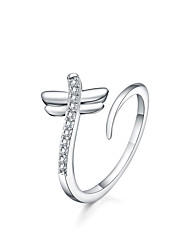 cheap -Women's Ring - Silver Plated Open Adjustable Silver For Daily / Casual