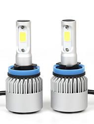 2pcs / set super luminoso 36w 8000LM h11 principale auto lampadine kit fari lampade nebbia bianca ha portato fari delle automobili h11