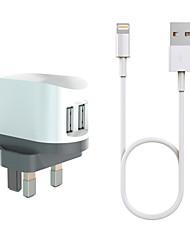 cheap -HXINH CoolPower MFi CertificatedPortable Charger For iPadFor iphone 8 7 Samsung S8 S7 2 USB Ports UK EU US AU Plug