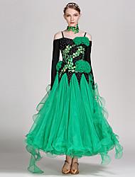 Недорогие -бальные танцы носить женский спандекс тюль элегантный классический платье