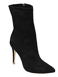 economico -Da donna Scarpe Tessuto Primavera Inverno Club Shoes Stivali Stivaletti A stiletto Appuntite Cerniera Per Casual Formale Serata e festa