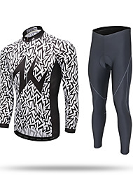 XINTOWN Cycling Jersey with Tights Men's Long Sleeves Bike Pants/Trousers/Overtrousers Tracksuit Zip Top Jersey Tops Bottoms Quick Dry