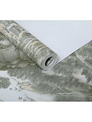 Albero/Foglie Pietra Sfondo Per la casa Paese Rivestimento pareti , Tessuto non tessuto di carta Materiale adesivo richiesta sfondo ,