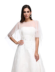 cheap -Lace Tulle Wedding Party Evening Women's Wrap With Lace Capes