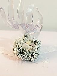 Fleurs de mariage Rond Noué à la main Petit bouquet de fleurs au poignet Mariage La Fête / soirée Dentelle Perle Fleur séchée