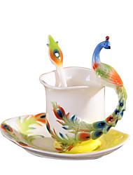 Оригинальные Классика Идти Стаканы, 230 ml Теплоизолированные Керамика Телесный Молоко Кофейные чашки