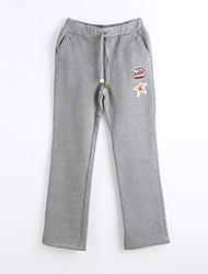 abordables -Mujer Casual Corte Recto Chinos Pantalones - Color sólido