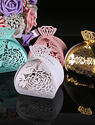 cheap -Creative Pearl Paper Favor Holder with Pattern Favor Boxes - 50