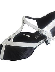 baratos -Mulheres Sapatos de Dança Latina / Sapatos de Salsa Cetim Sandália Fru-Fru Salto Personalizado Personalizável Sapatos de Dança Roxo /