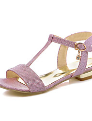 Women's Sandals Spring Summer Fall Club Shoes Customized Materials Glitter Wedding Dress Casual Buckle Gold Sliver Blushing Pink