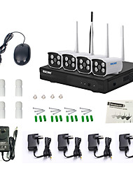 abordables -escam® wnk403 plug and play wireless nvr kit p2p 720p hd outdoor ir sistema de wifi de cámara ip de seguridad de visión nocturna