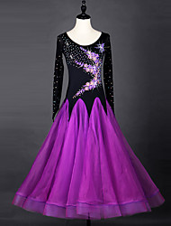 Shall We Ballroom Dance Dresses Women Performance Organza Dress