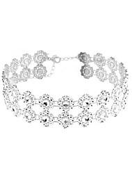 cheap -Others Personalized Fashion Euramerican Double-layer European Choker Necklace Jewelry Resin Imitation Diamond Choker Necklace , Daily