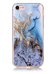 cheap -Marble Ocean Blue Pattern Soft TPU Phone Case Cover for iPhone 5 55 SE 6 6 Plus 7 7 Plus