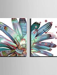 economico -Moderno/Contemporaneo Altro Orologio da parete,Rettangolare Tela35X50cm(14inchx20inch)x2pcs/ 40 x 60cm(16inchx24inch)x2pcs/ 50 x