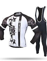 XINTOWN Cycling Jersey with Bib Tights Men's Long Sleeves Bike Tracksuit Zip Top Jersey Bib Tights Pants / Trousers Top Clothing Suits