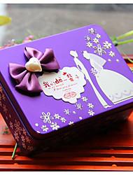 economico -Cuboidi Ferro Porta-bomboniera Con Fiocco Bomboniere scatole Vasi e bottiglie per dolci Confezioni regalo