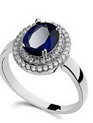 ieftine -Dame Inel Safir La modă Personalizat Euramerican bijuterii de lux Piatră Preţioasă Ștras Aliaj Flower Shape Bijuterii Floarea Soarelui