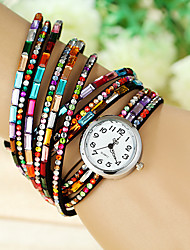 Women's Fashion Watch Quartz Ceramic Band Charm Casual Black Blue Red Brown Green Pink Purple Rose