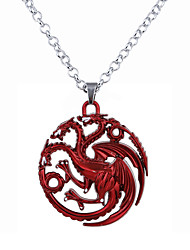 cheap -Men's / Women's Logo Pendant Necklace - Unique Design, Dangling Style Silver, Red, Bronze Necklace Jewelry For