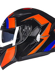 cheap -GXT 902 Wolf Motorcycle Electric Cars Double Lens Anti-Fog Open Face Helmet Full Cover Unisex Colorful