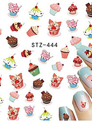 1pcs Nail Art Water Transfer Decals Sweet Cake Image DIY Nail Art Design Decoration Tips STZ-444