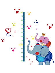 Wall Stickers Wall Decals Style Elephants Measure Your Height PVC Wall Stickers