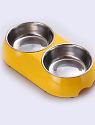 Cat Dog Bowls & Water Bottles Pet Bowls & Feeding Waterproof White Black Yellow Blue Blushing Pink