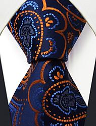 cheap -QXL8 Men's Necktie Blue Paisley 100% Silk Business Fashion Wedding For Men