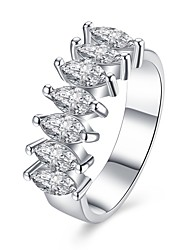 cheap -Women's Zircon Copper Silver Plated Ring - Fashion For Special Occasion Daily Casual
