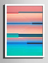 E-HOME® Framed Canvas Art Color Line Portrait Framed Canvas Print One Pcs